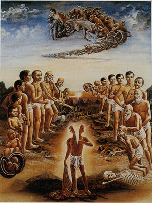 Réincarnation : Théodore Illion - In Secret Tibet : Deux types de spiritualités s'opposent en ce monde LeLivreDeBhaktivedanta_CycleDe