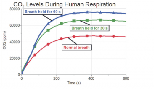 CO2 levels During Human Respiration