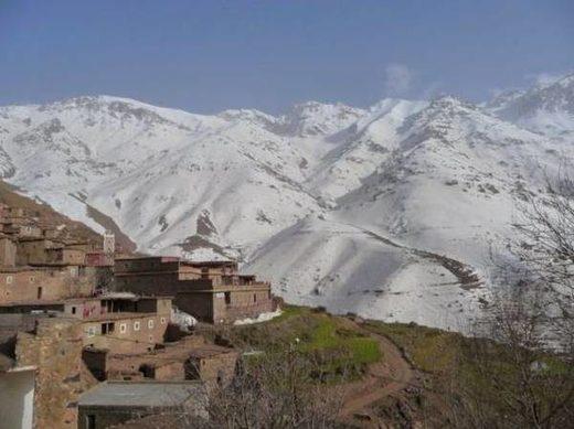 Al-Haouz snow Moroco