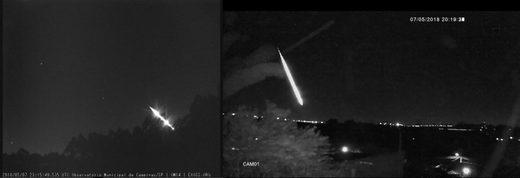 meteor fireball over Brazil