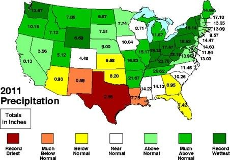 US map rain