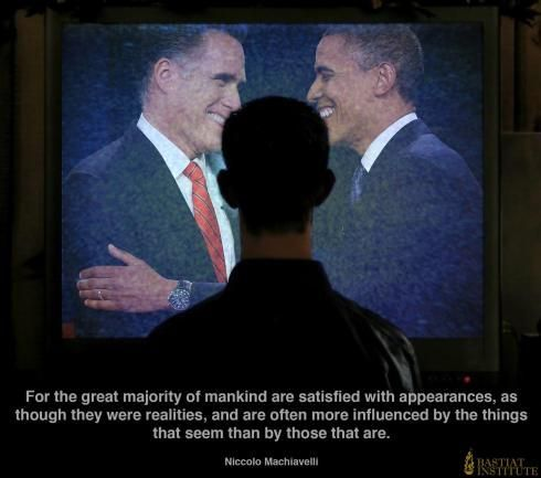 Romney & Obama & quote Machiavel