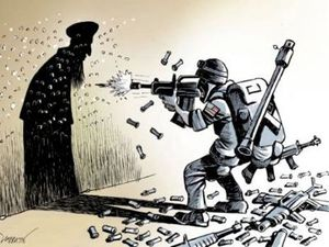 Drawing soldiers vs islam