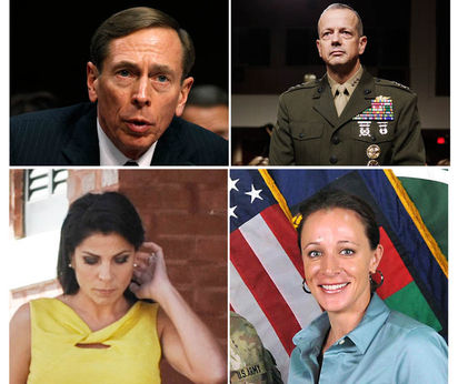 Four protagonists of the scandal Petraeus