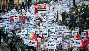 Demonstration for gaza in London