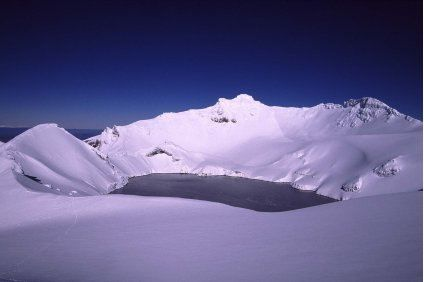 Ruapehu crater under snow