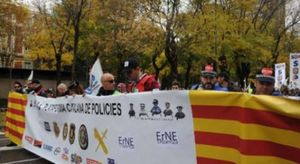 Demonstration of cops in Madrid