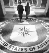 CIA-logo-w-two-people-walking-away-from-it