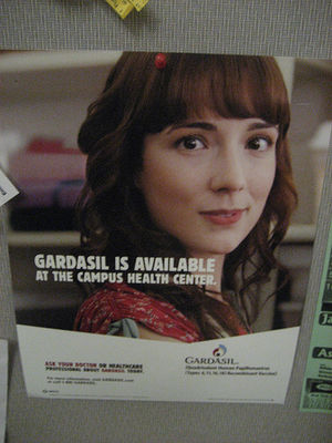 Advertising campaign for Gardasil