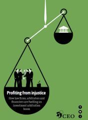 Illustration profiting from injustice