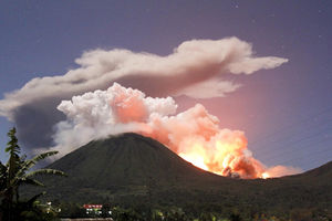 Mount Lokon volcano