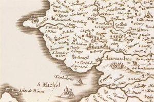 manuscrit map baie Mont Saint Michel