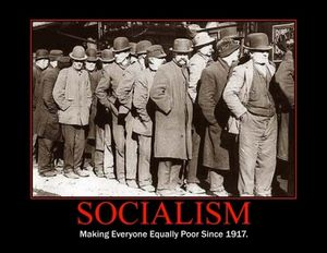 Socialism-make everyone equally poor since 1917