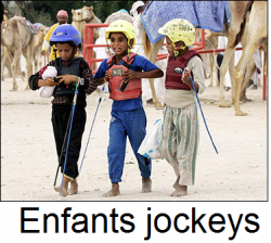 enfants jockeys