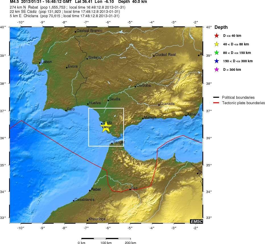 espagne   un seisme de magnitude 4 5 secoue le d u00e9troit de