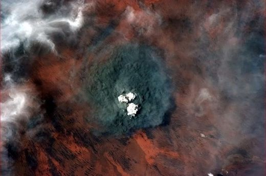 Incendies Australie vu de l'ISS
