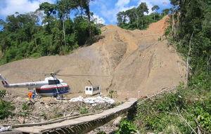 Les hélicoptères se rendant sur le site de Camisea font fuir le gibier dont les Indiens dépendent.