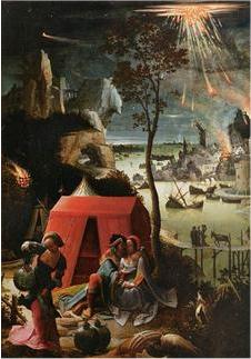 Painting La destruction de Gomorrhe, par Van Leyden