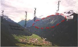 Impact autrichien de Kofels, causant un glissement de terrain de 200m