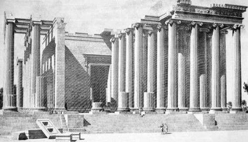 Reconstitution du temple d'Apollon à Didymes