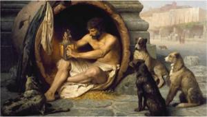 Diogène dans son tonneau