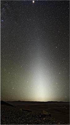 La lumière zodiacale.