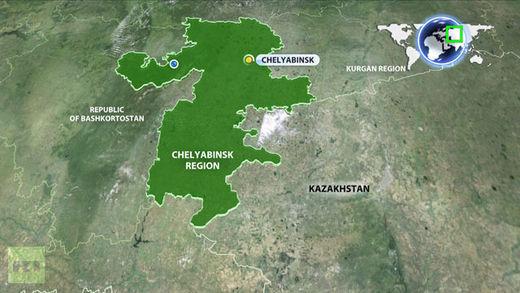 Map Oural Russie Chelyabinsk