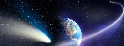 terre, comètes espace,