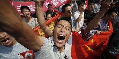 Manifestation chinoise contre le Japon