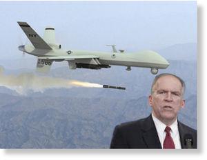 Le futur directeur de la CIA, John Brennan et l'un des drones de la CIA qu'il veut vous faire découvrir