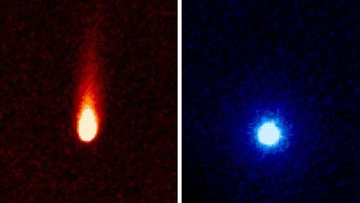 Les deux chevelures de la comète Ison