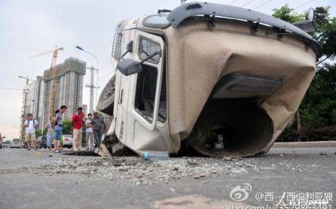 Sinkhole Xian, Chine, 27.07.2013