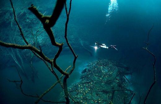 Rivière sous l'eau