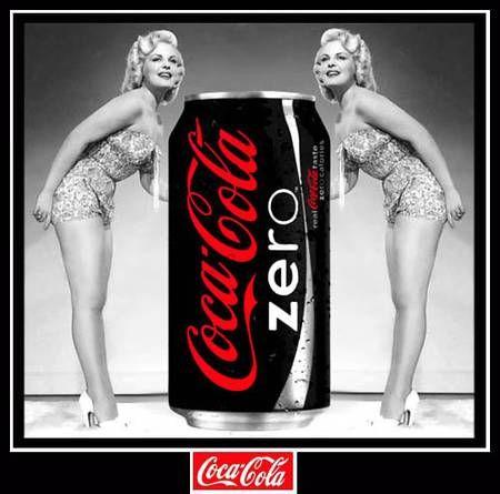 Pub Coca Cola Zero et Pin-ups