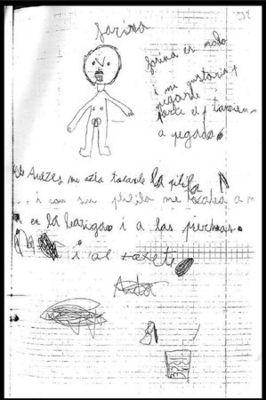 dessin d'enfant victime de pédophiles