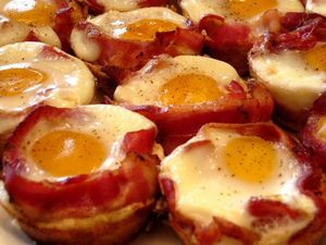 Oeufs au bacon