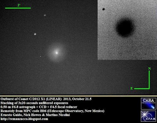 explosion C/2012 X1 LINEAR