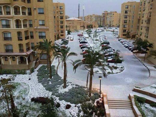 Neige au Caire, Egypte