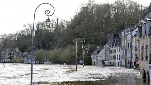 Comme ici à Quimperlé, la Laïta fait partie des trois rivières bretonnes en vigilance rouge