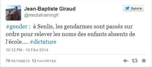 Tweet capture genre école Senlis gendarmes