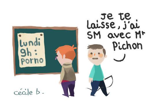 Genre à l'école, illustration Cécile Bidault