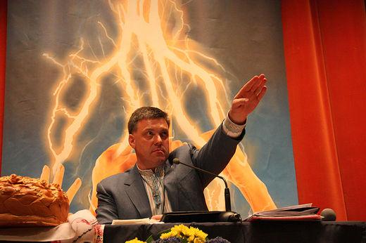 Le député Oleh Tyahnybok, leader du parti d'extrême-droite Union panukrainienne «Liberté» (Svoboda).