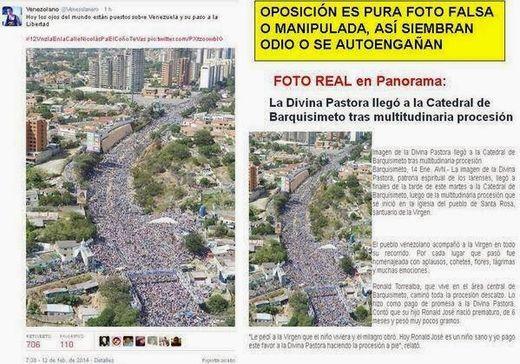 Sur la photo ci dessous une image aérienne d'un pèlerinage religieux se transforme en une manifestation massive de l'opposition qui n'a pourtant jamais eu lieu