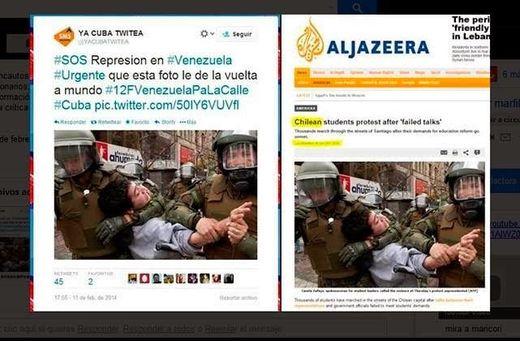 Les étudiants chiliens doivent sauter au plafond en voyant leurs camarades utilisés par l´extrême droite vénézuélienne