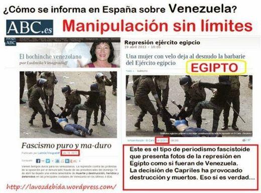 Qui se doutait que les policiers égyptiens réprimaient des citoyens vénézuéliens ?