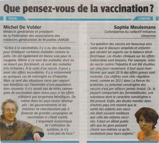 Presse article vaccins