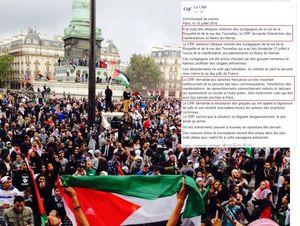 Le CRIF demande l'interdiction des manifestations pour Gaza