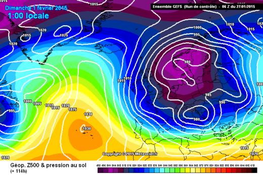 Prévisions météo Europe 01.02.2015