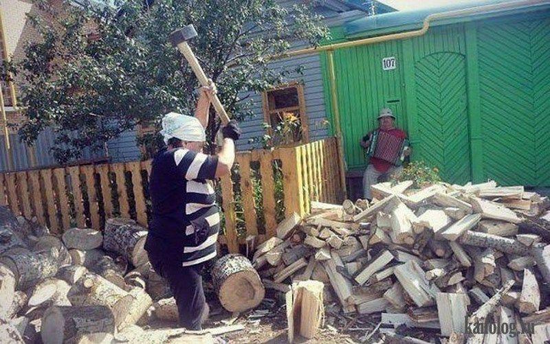 Прикольные картинки дрова, бога добрым