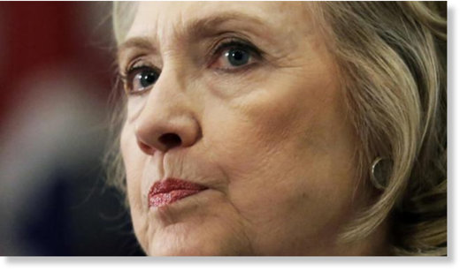 hillary clinton mean stern face